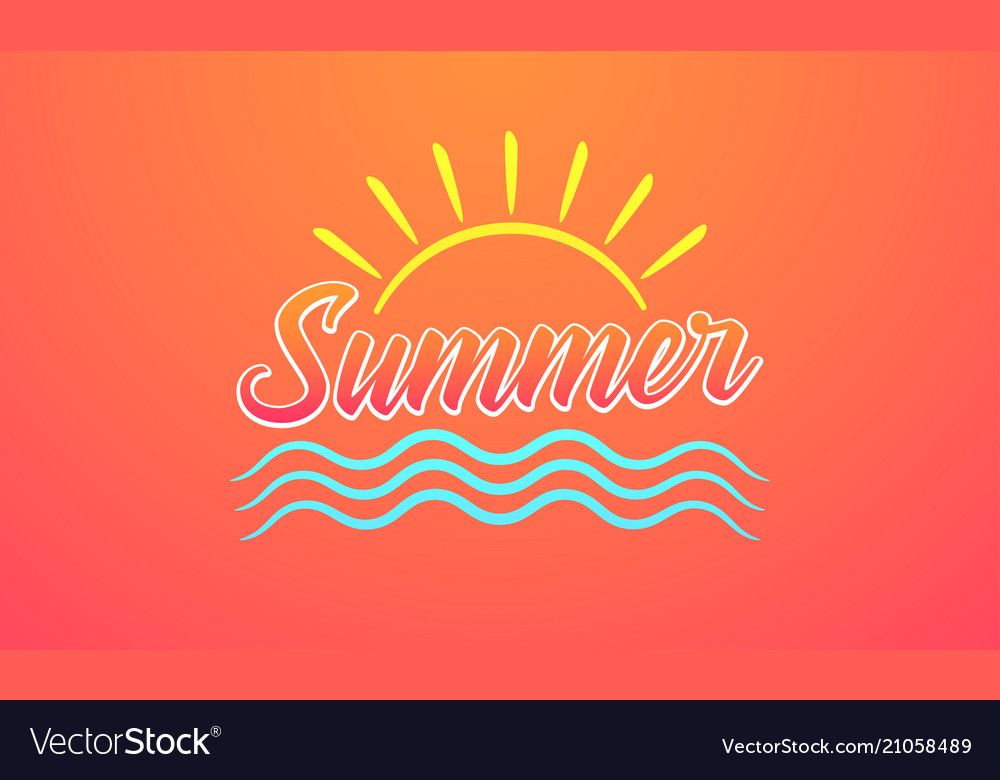 Sunny design of summer lettering