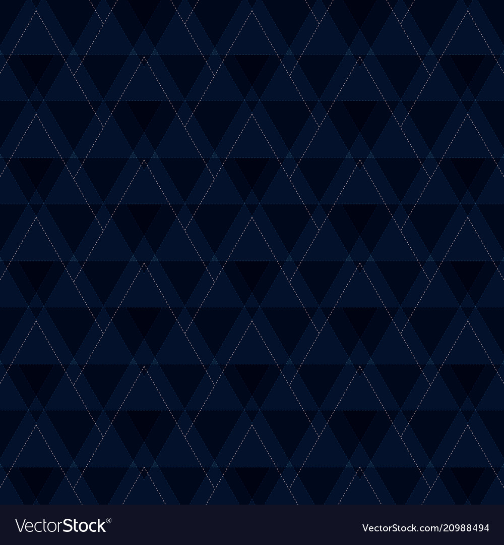Abstract of blue triangles shapes pattern