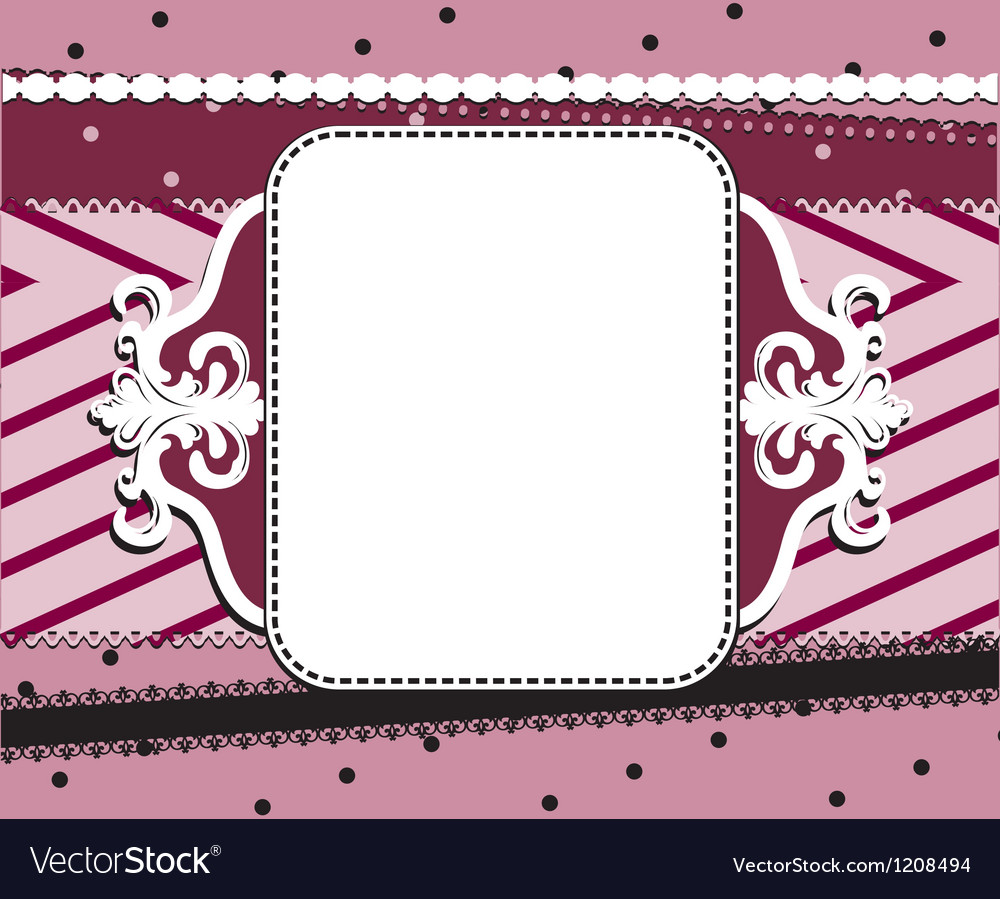 Abstract red frame background with dots