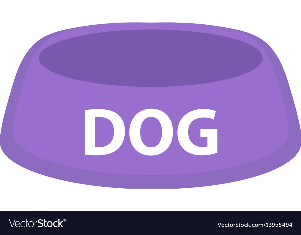 Dog bowl for food icon flat cartoon style