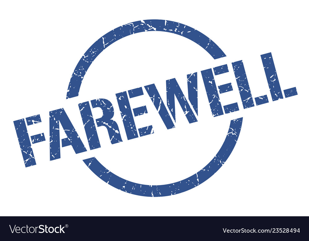 Farewell stamp Vector Image