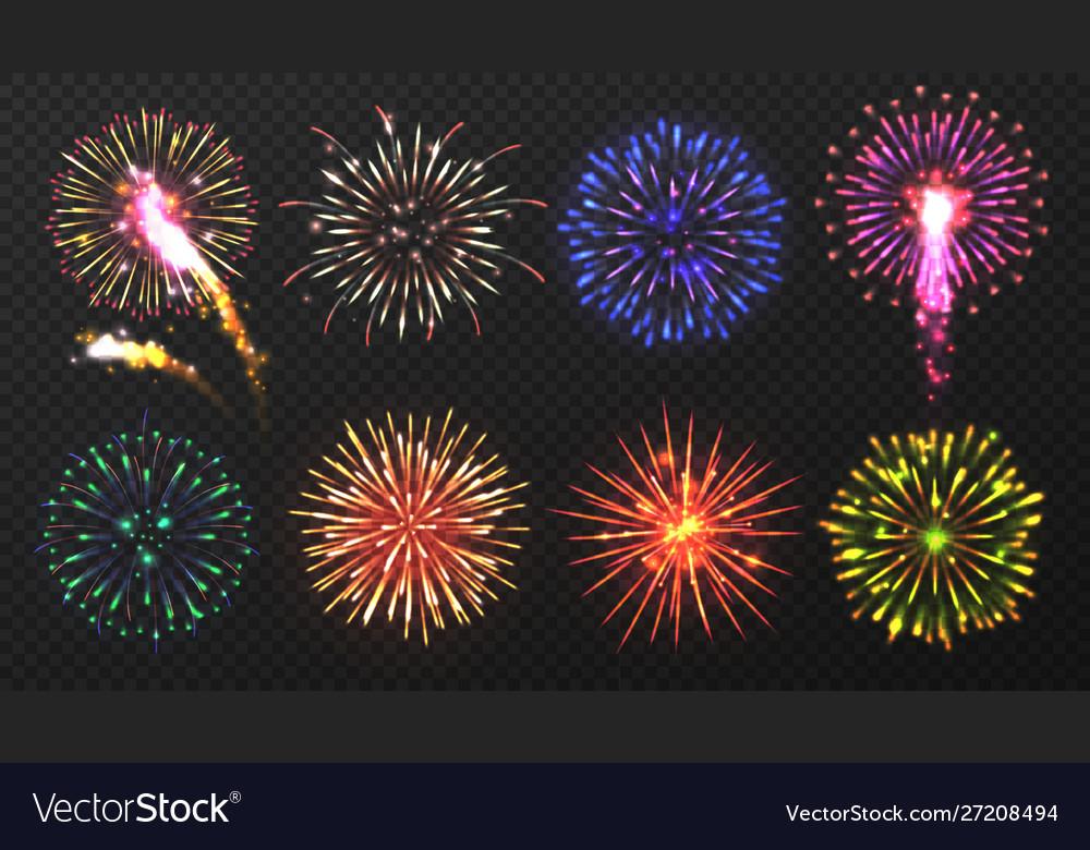 Fireworks various multicolored firework