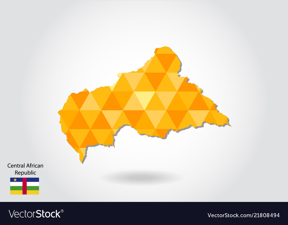 Geometric polygonal style map of central