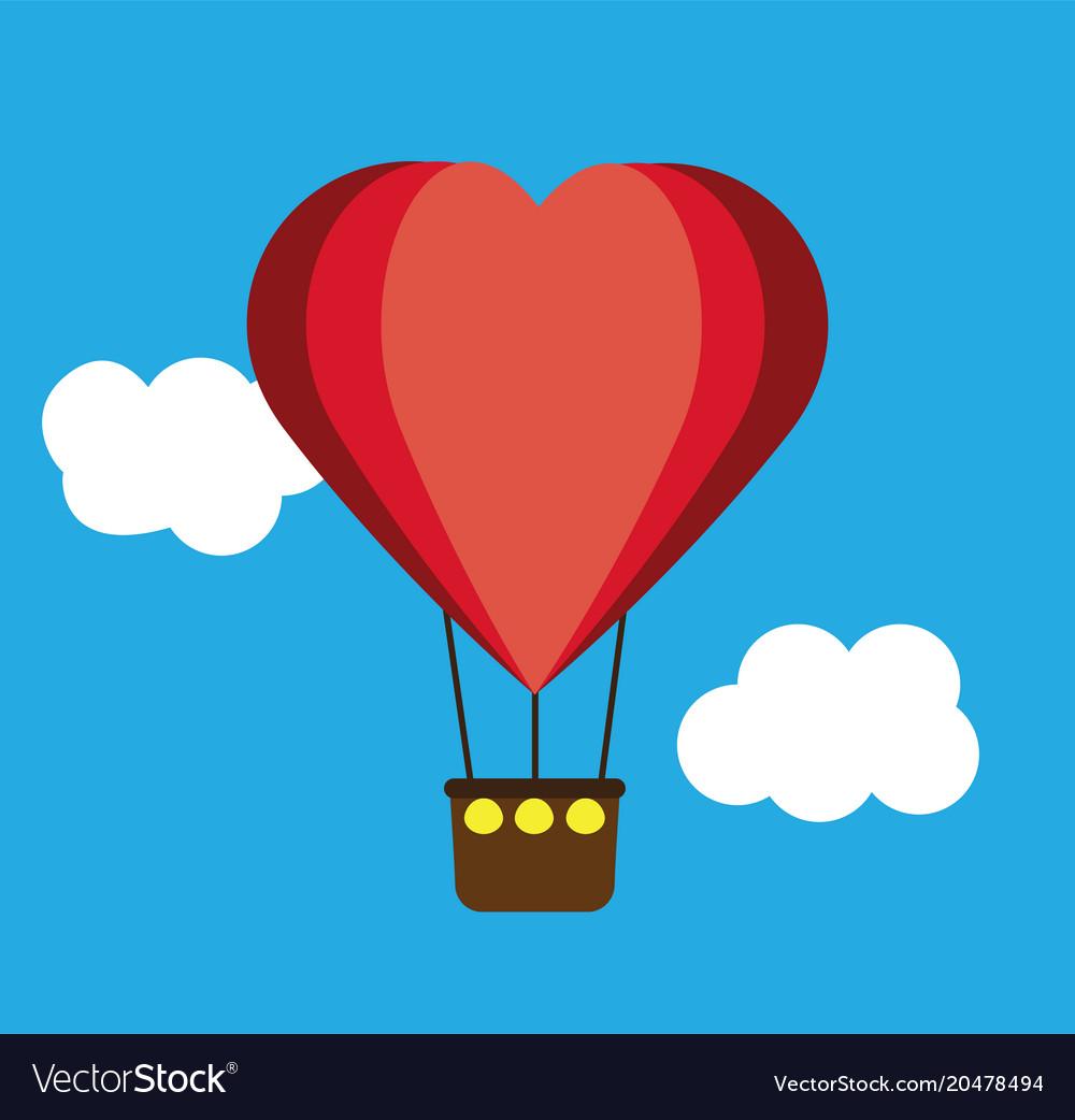 Heart shape air balloon