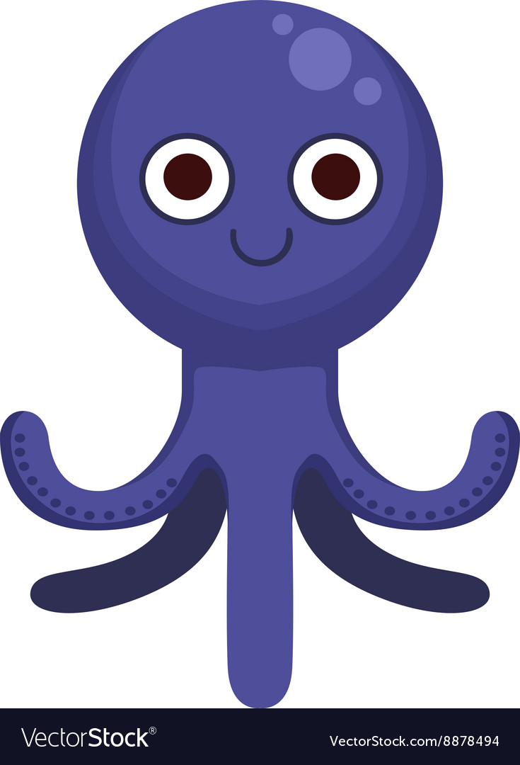 octopus simple cartoon character royalty free vector image rh vectorstock com oswald octopus cartoon character octopus cartoon character