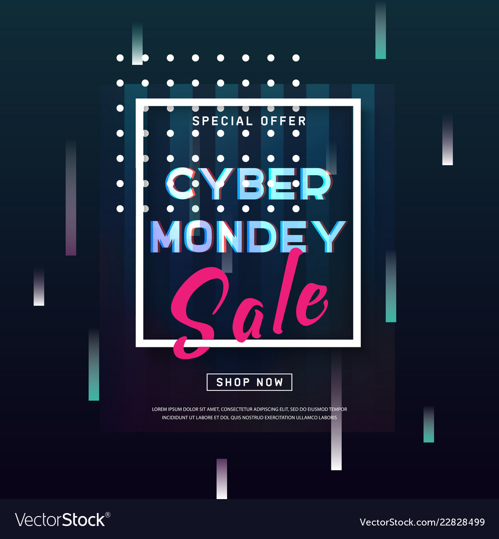 Cyber monday concept banner in modern style