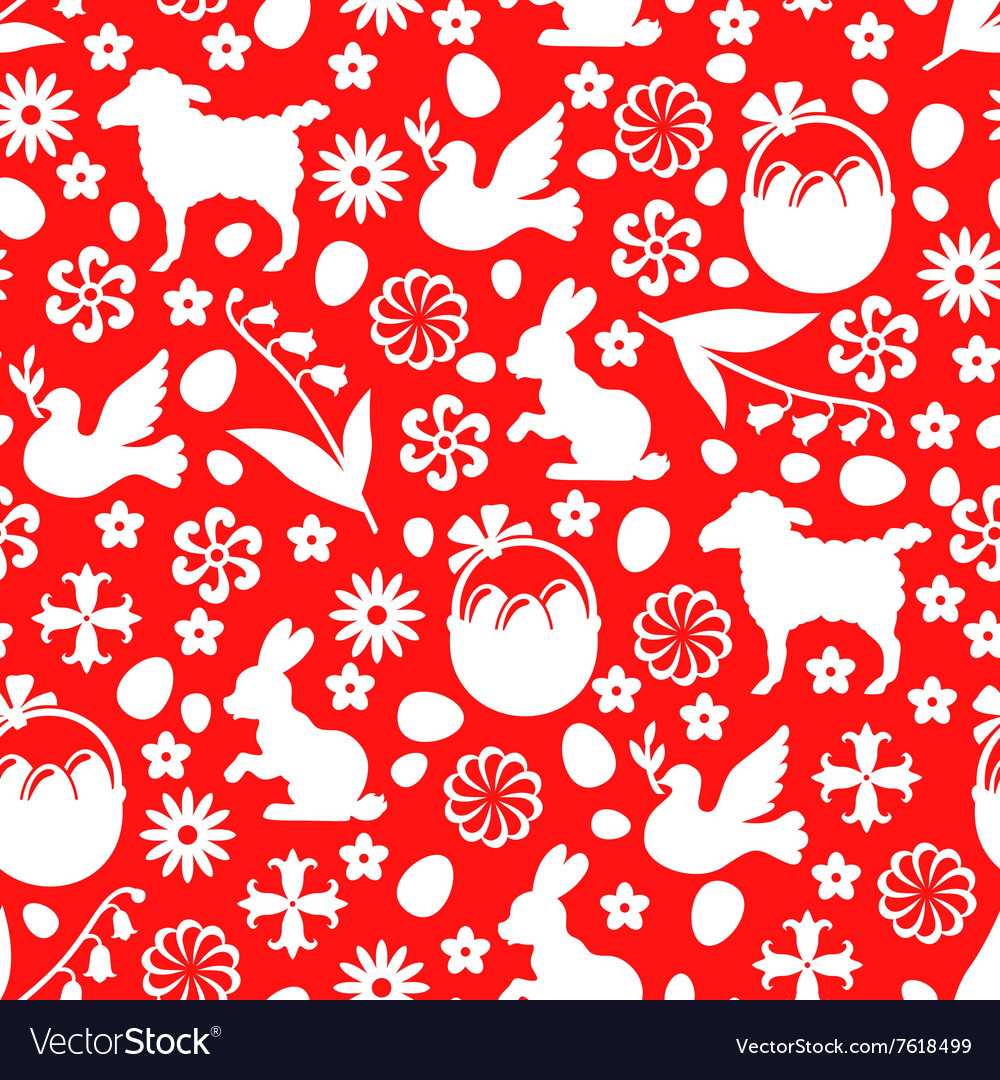 Easter pattern red