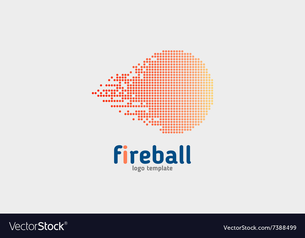 Flame - logo concept Red fire vector image