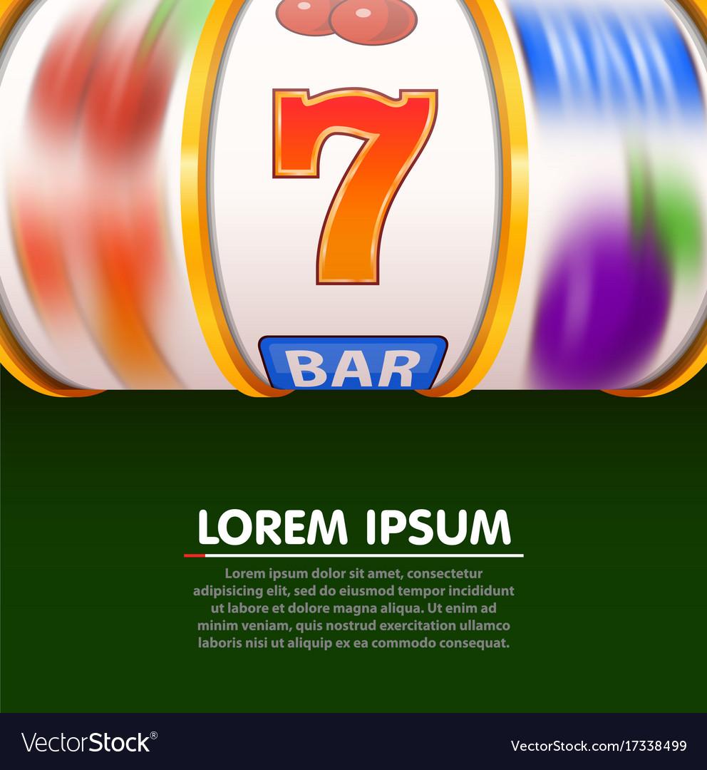 Golden slot machine wins the jackpot spin wheels