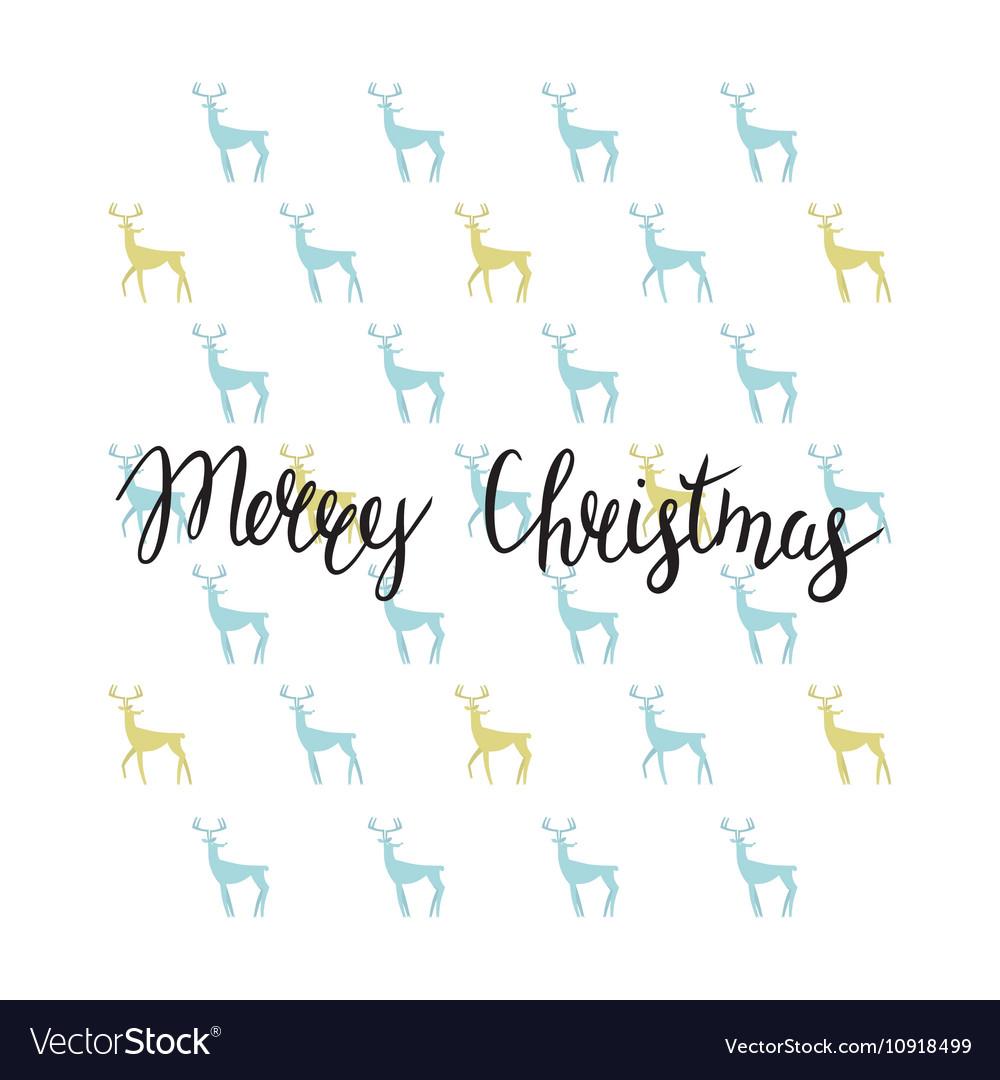 Merry Christmas lettering design Handmade