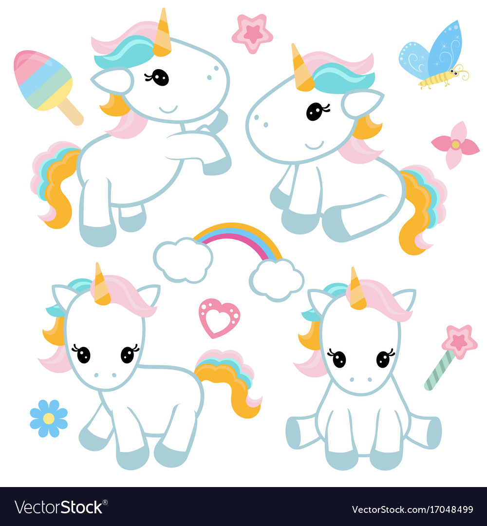 Set of unicorn set of unicorn