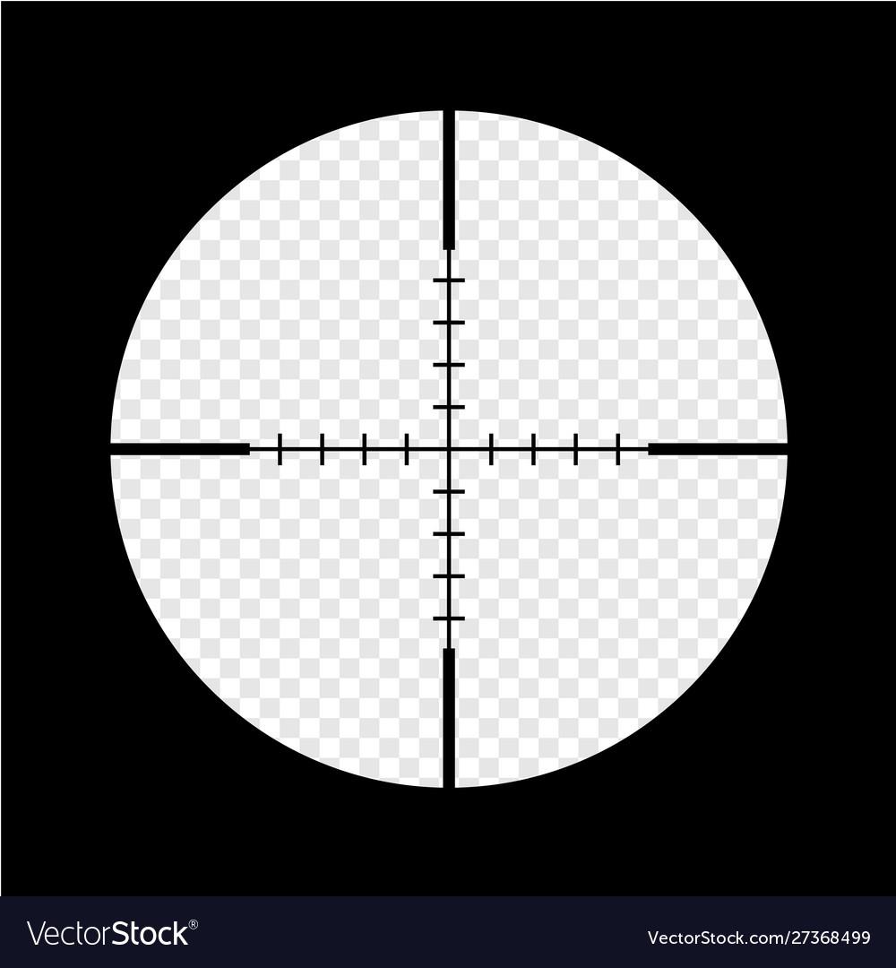 Simple black sniper optical scope crosshair aim