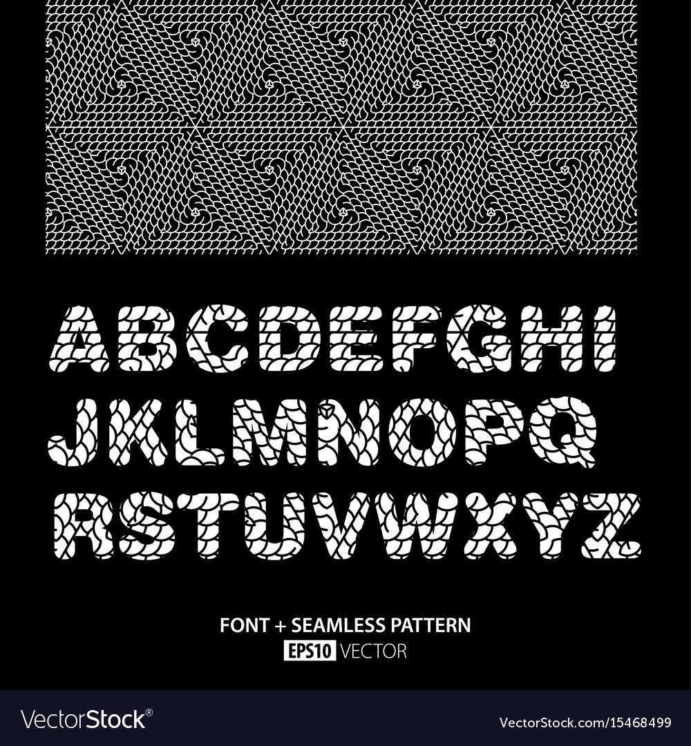 Stylish monochrome font poster