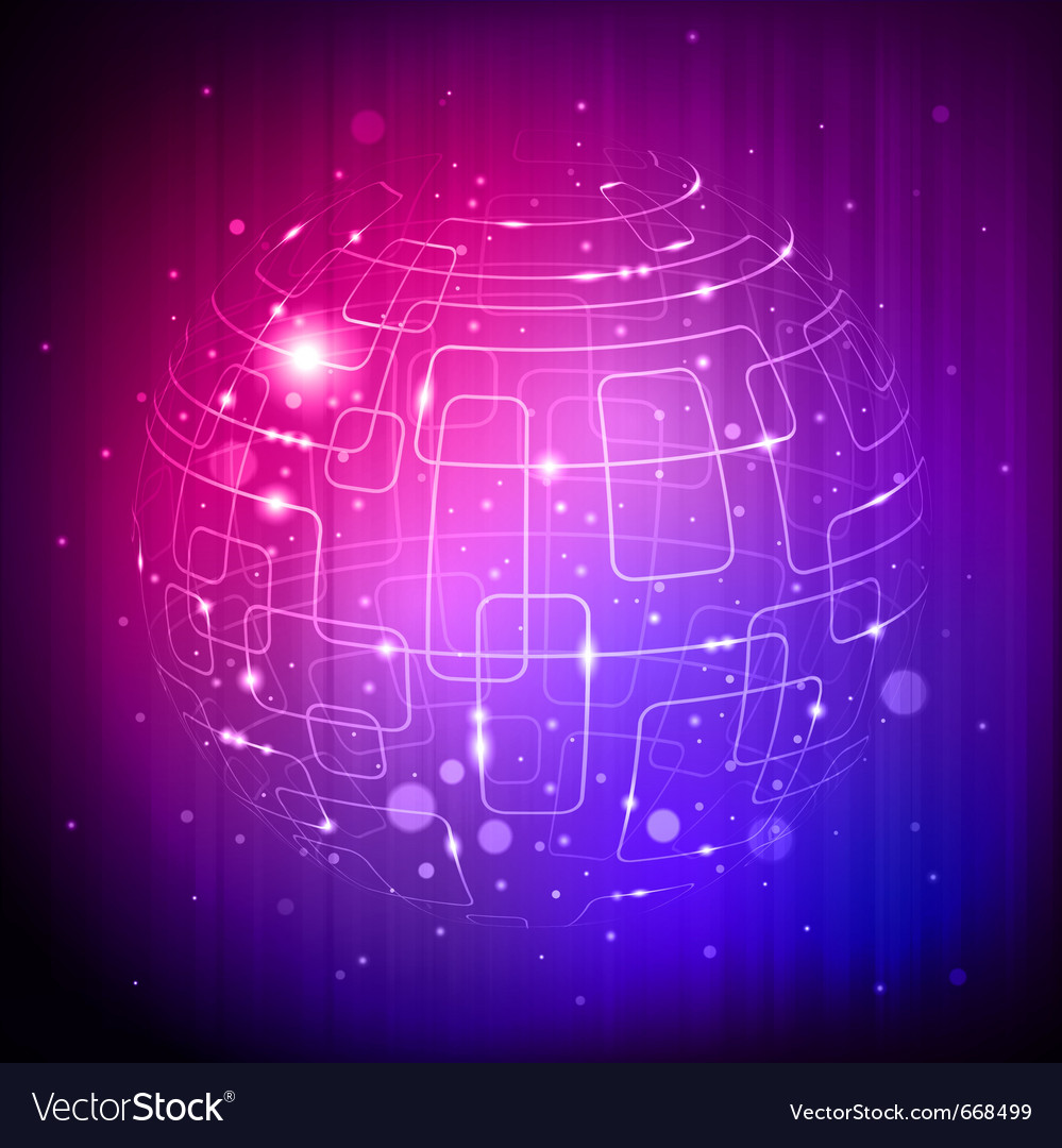 Tech sphere background vector image