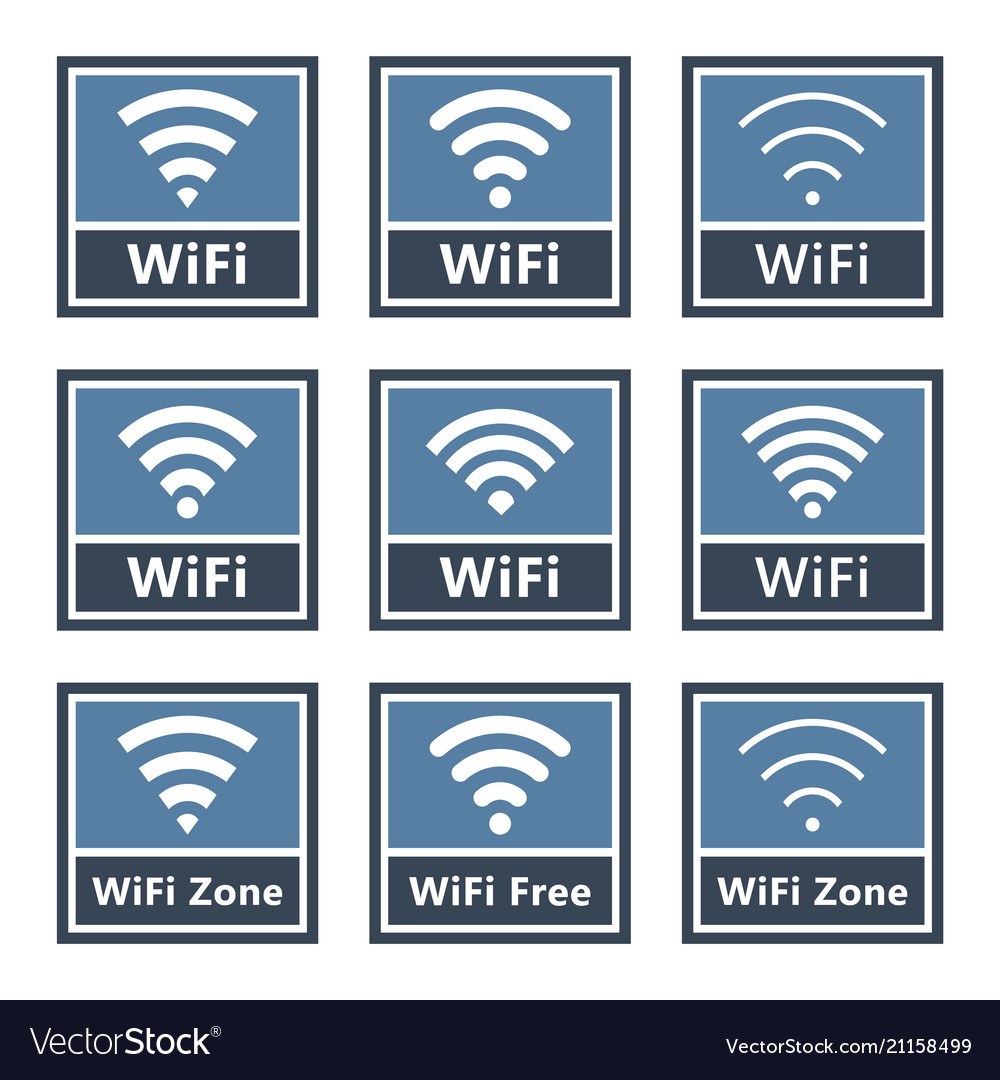 Wifi signs set wireless icons
