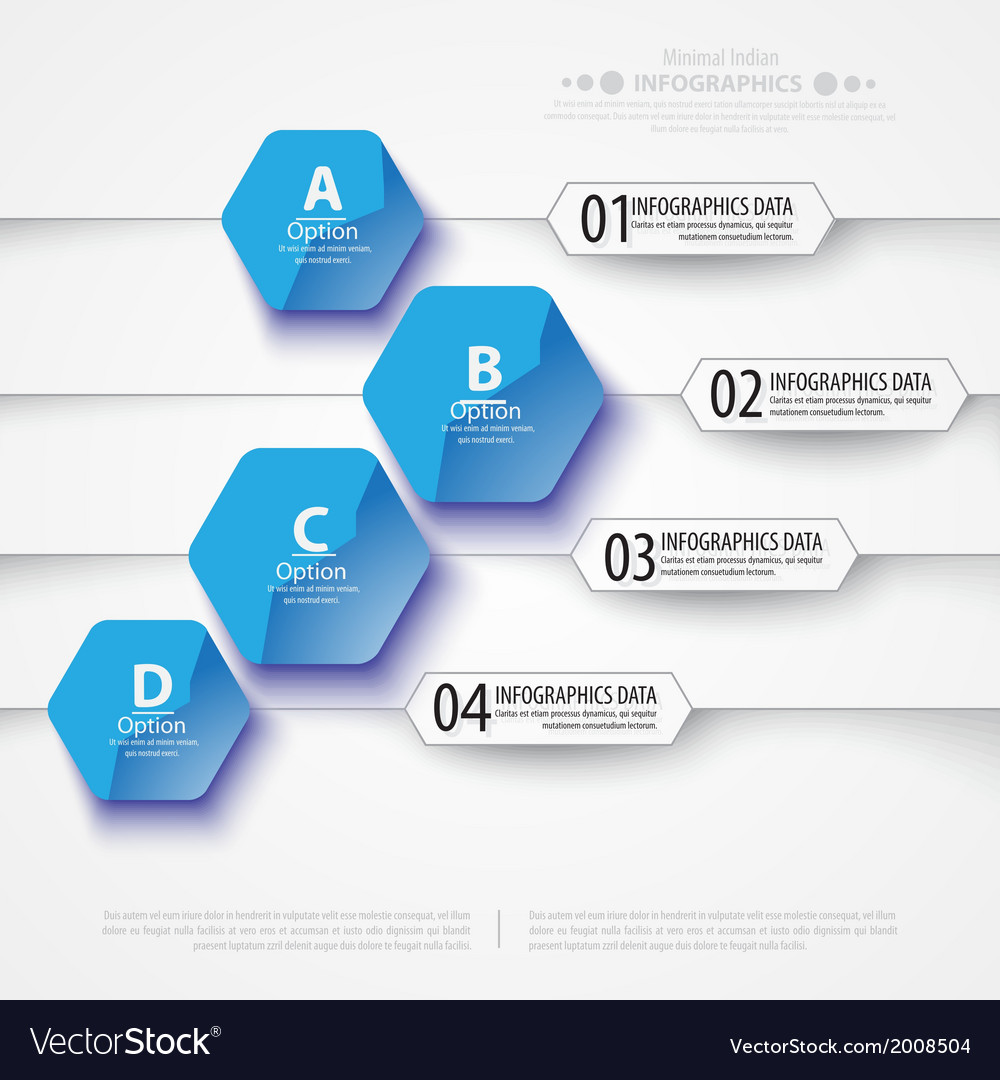 Abstract polygons background infographic template