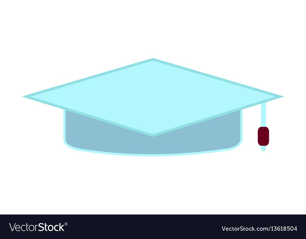 Cartoon education academic square cap flat icon