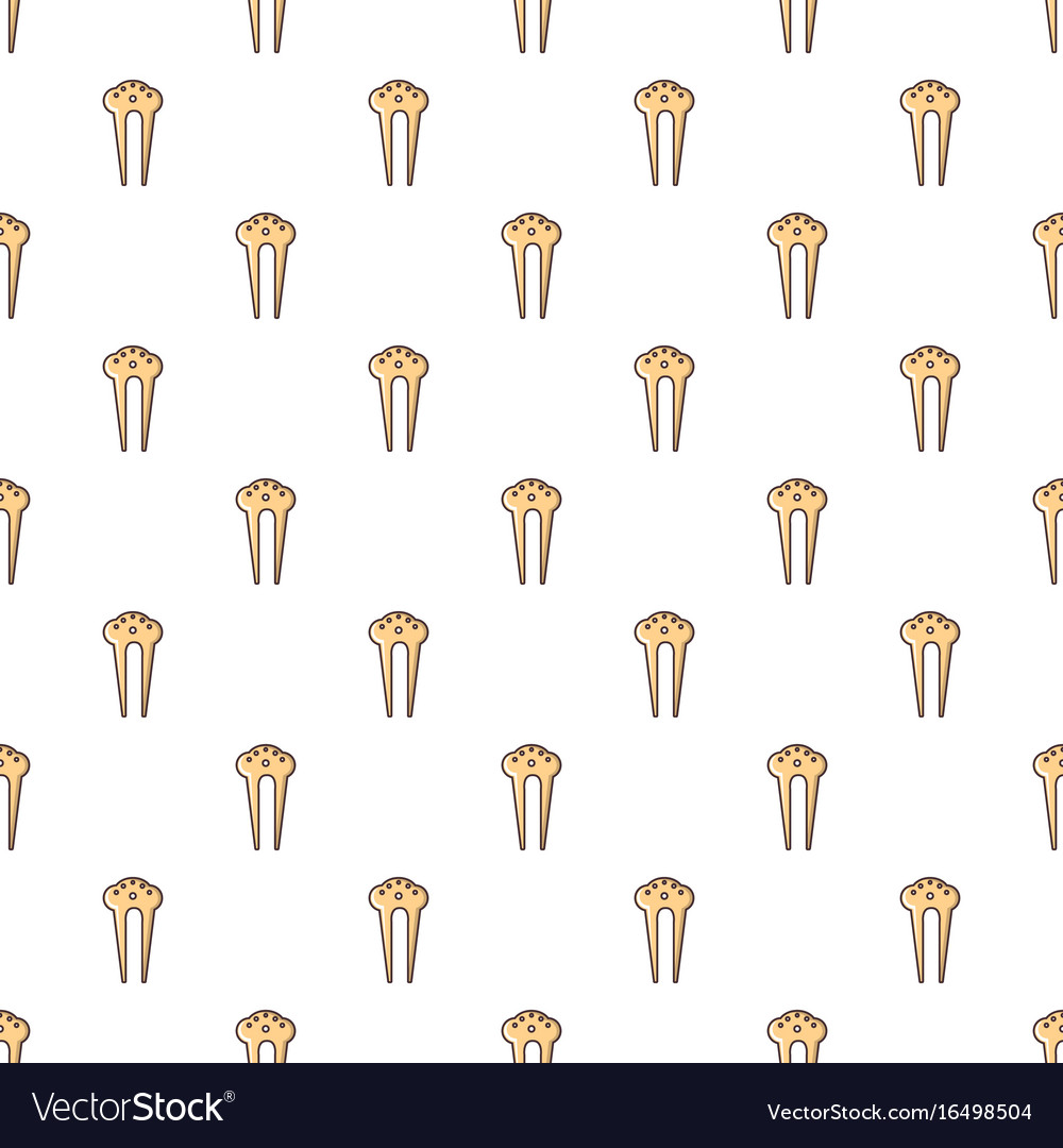 Comb for hair decoration pattern seamless vector image