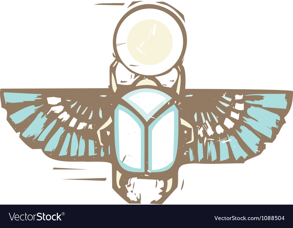 Egyptian Distressed Winged Scarab