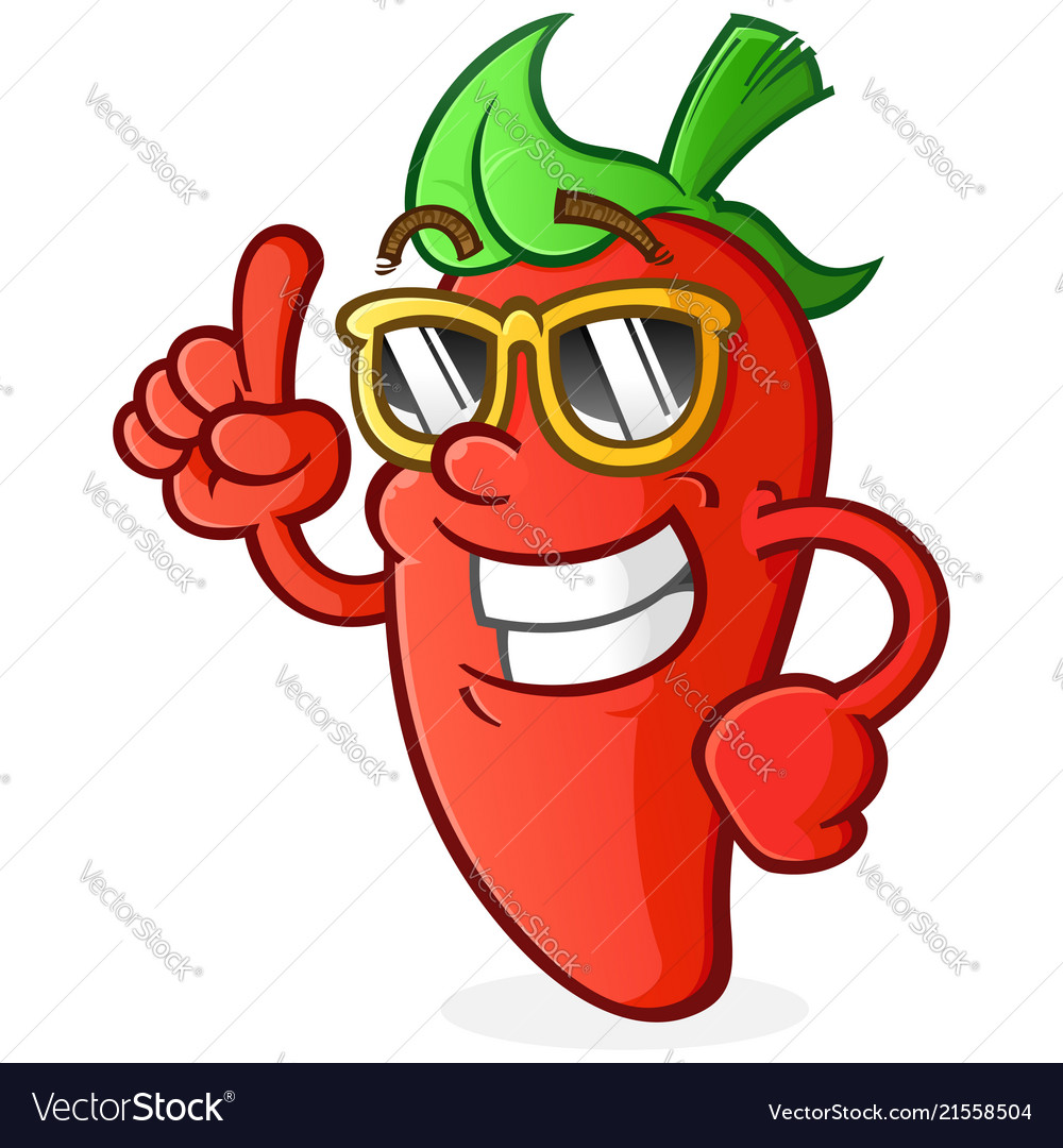 Hot pepper cartoon character with attitude
