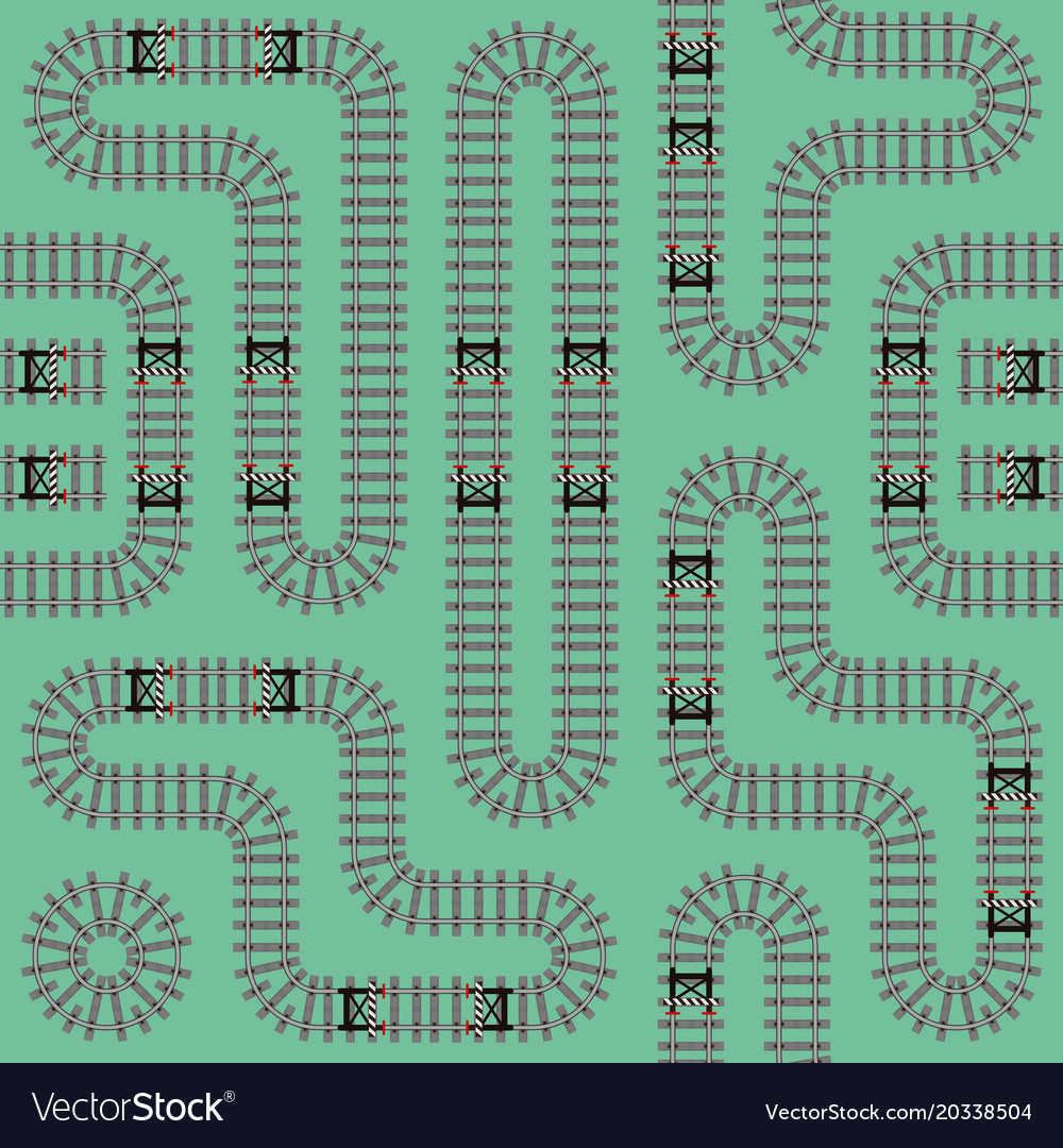 Railroad track seamless pattern