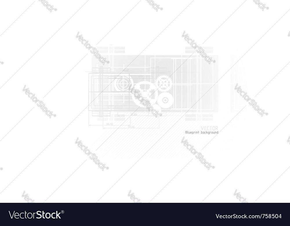 Technology blueprint abstract design vector image