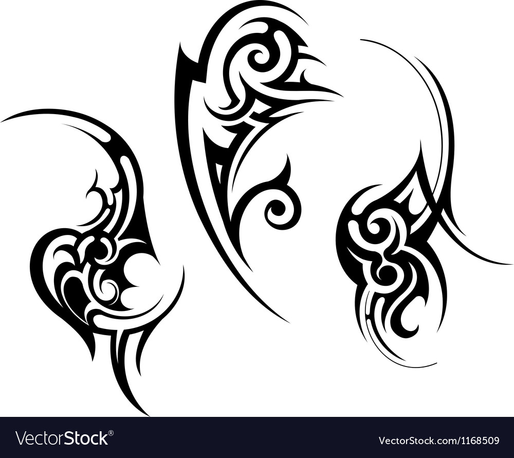 Abstract Tribal Tattoo Design Royalty Free Vector Image