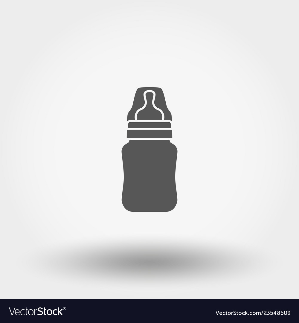 Feeding bottle icon silhouette flat