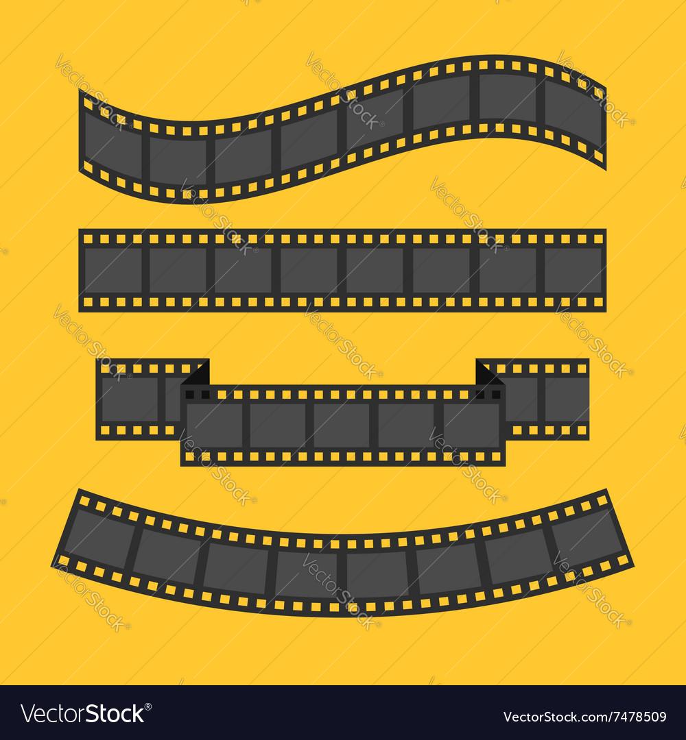 Film strip frame set Different shape ribbon