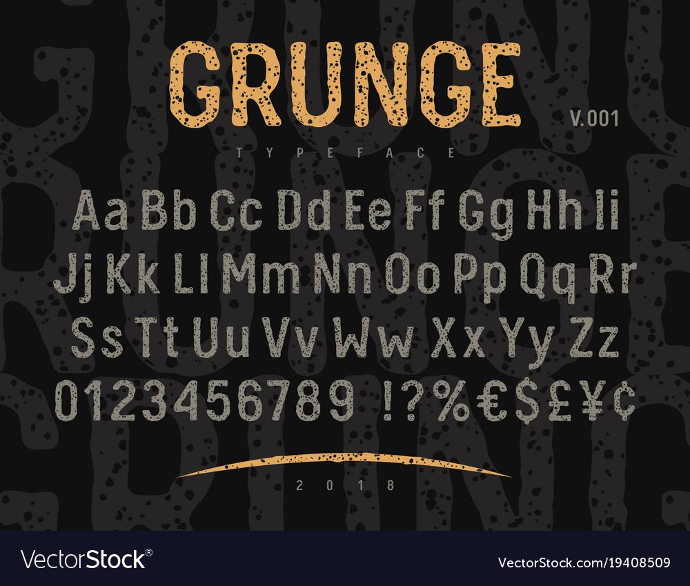 Grunge font 001 vector image