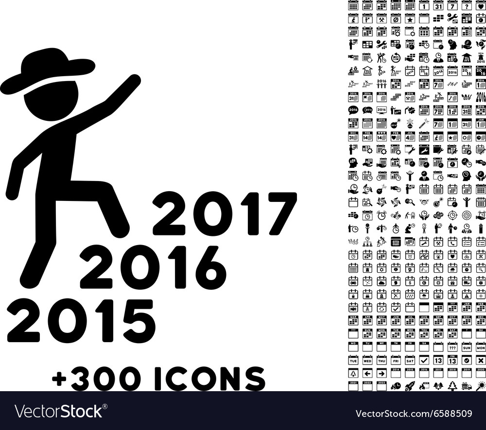 Human Figure Steps Years Icon