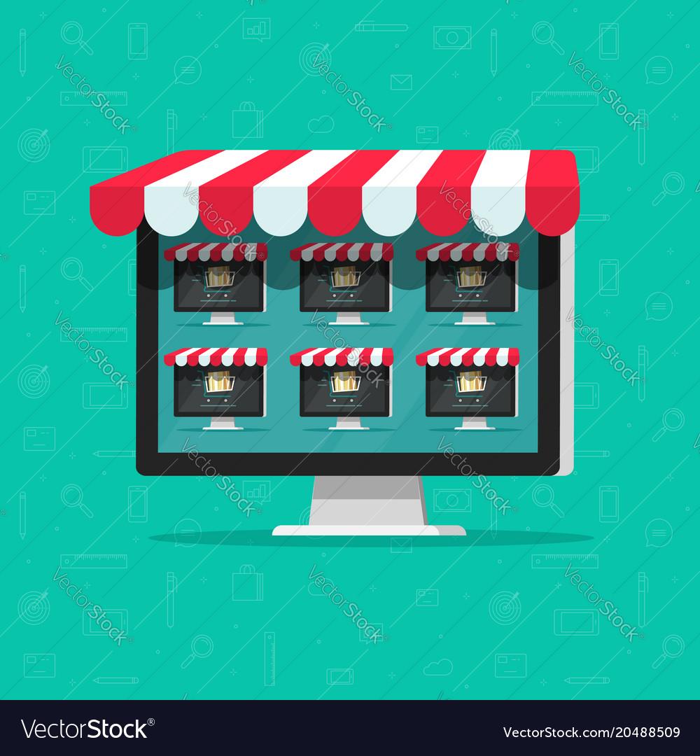 Marketplace online store flat