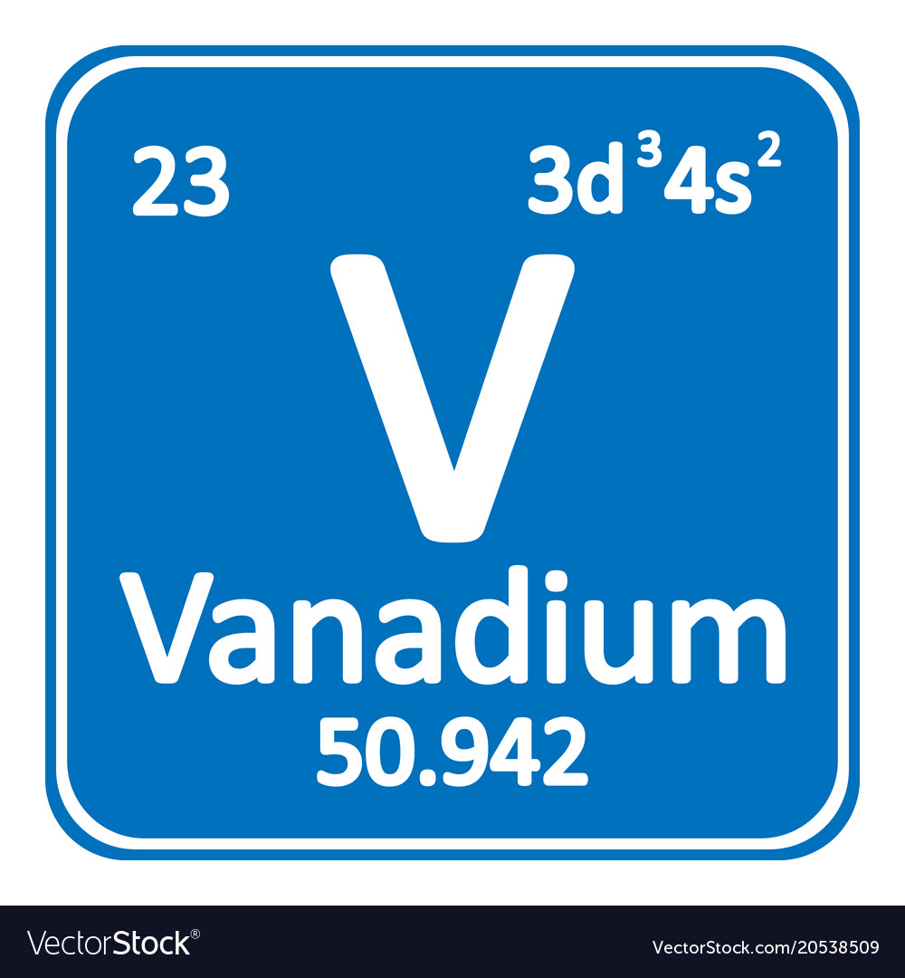 Periodic table element vanadium icon