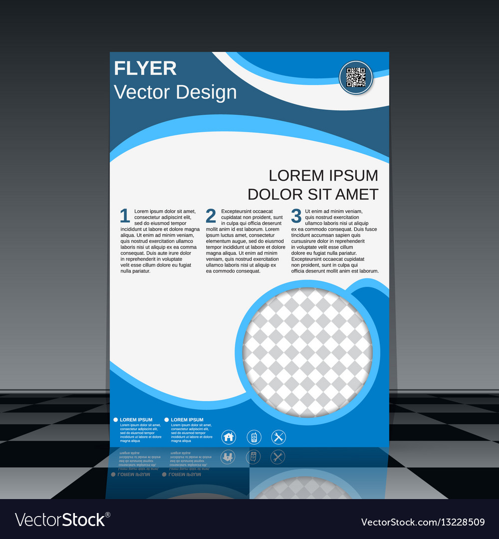 professional business flyer design royalty free vector image