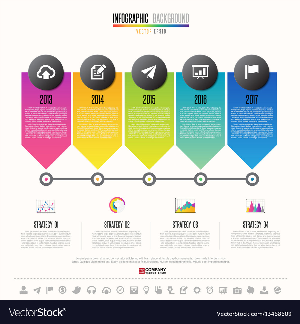 timeline infographics design template royalty free vector