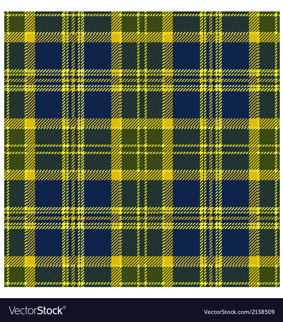 Yellow Tartan Design