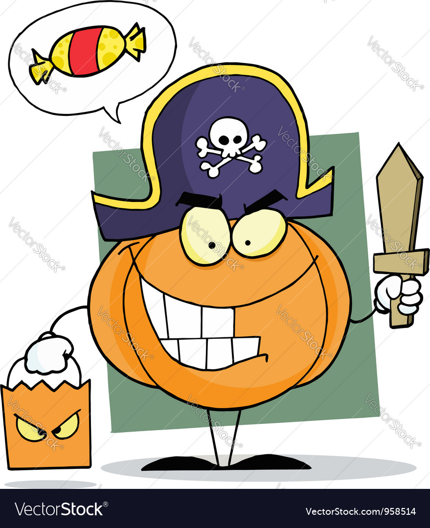 Cartoon Character Halloween Pumkin