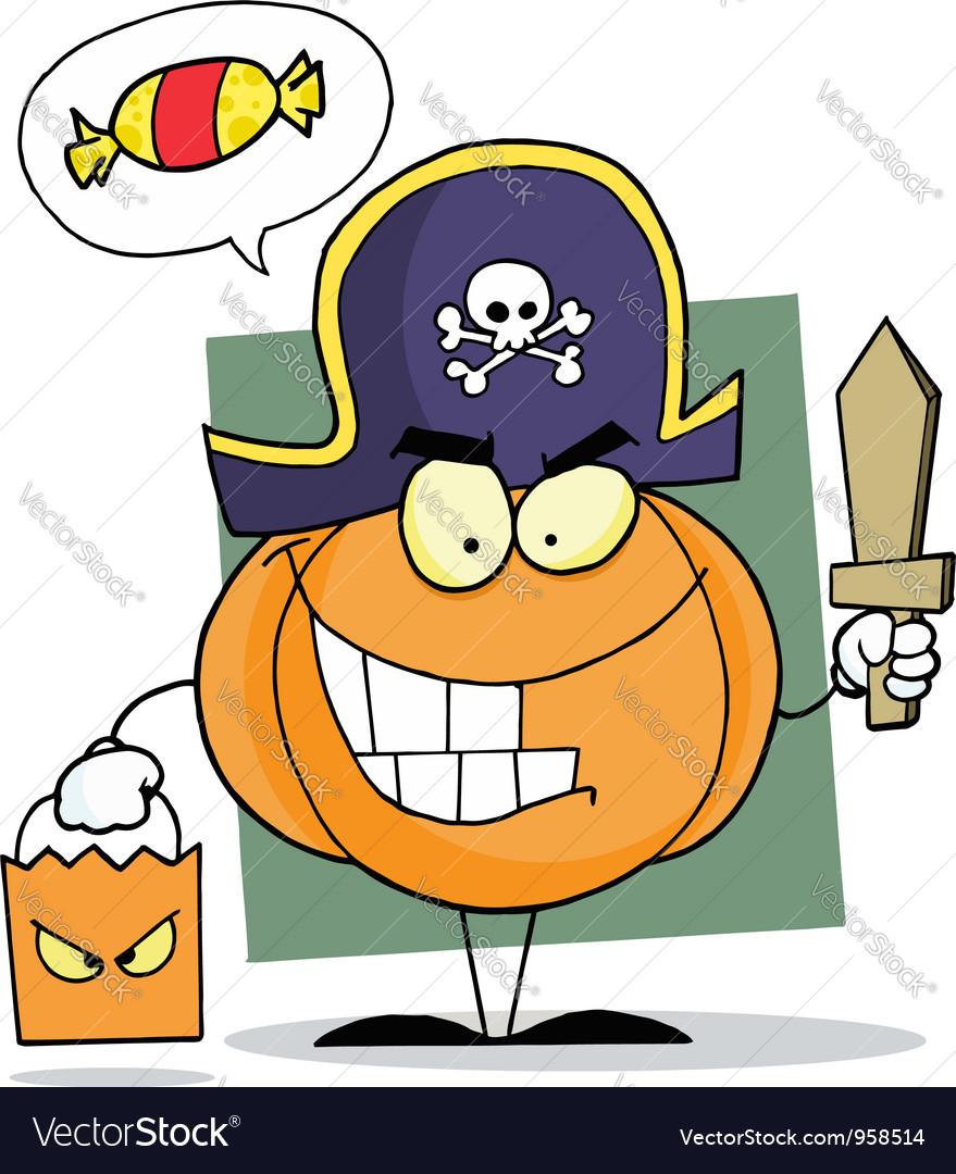 Cartoon Character Halloween Pumkin vector image
