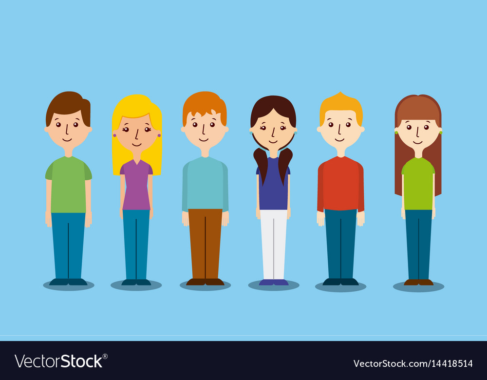 Cartoon people icons vector image