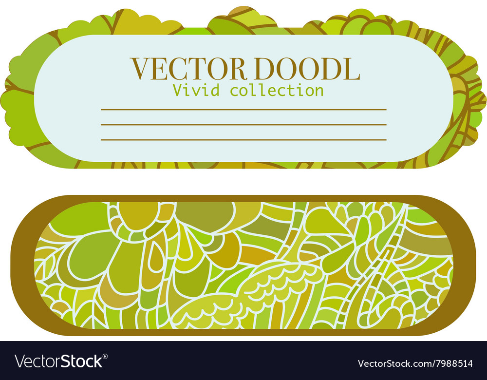 Doodle set of cards template