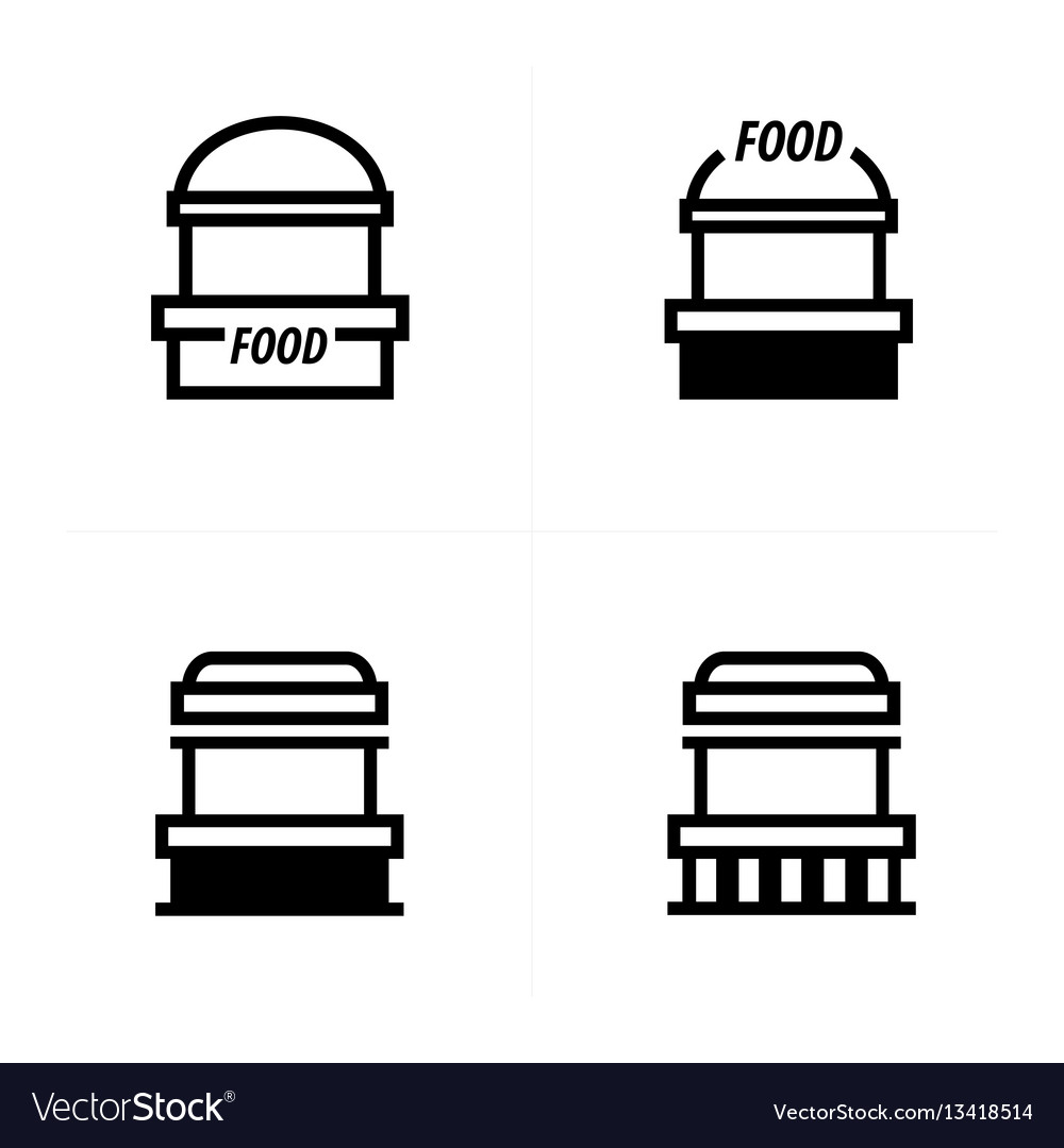Fast food trolley icons design vector image