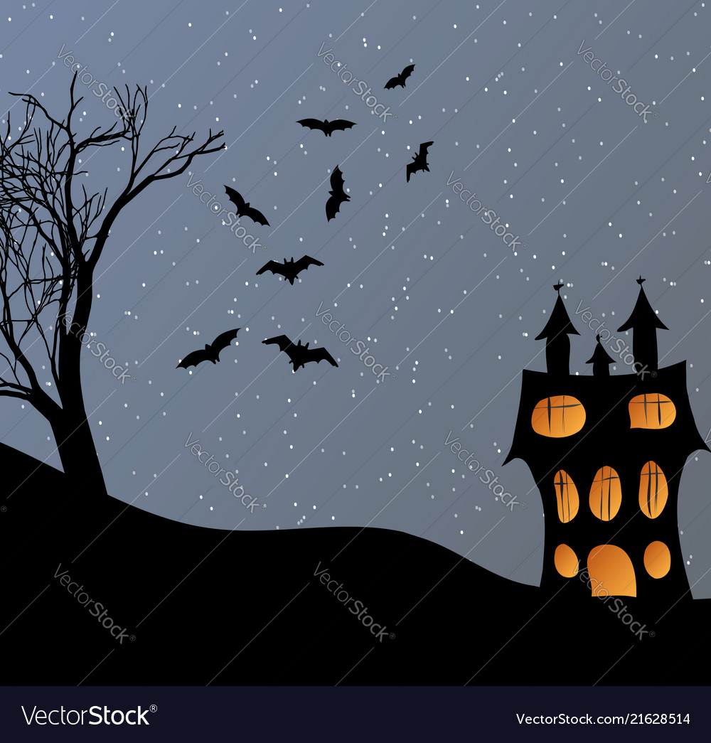 Landscape with a halloween castle