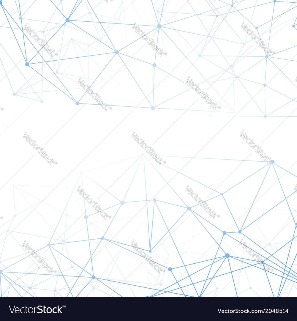 Molecular connection blue background