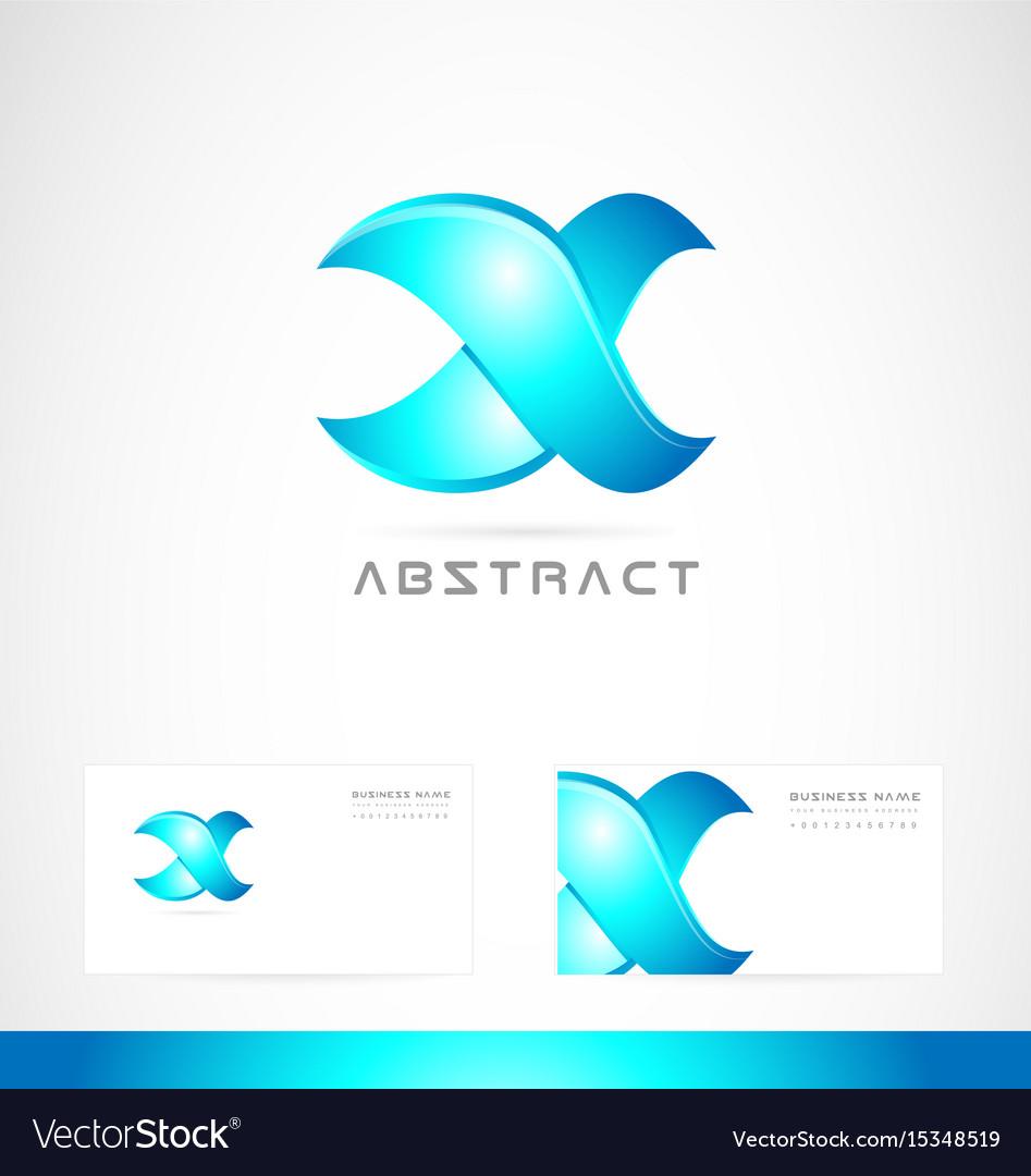 Corporate blue sign logo icon design
