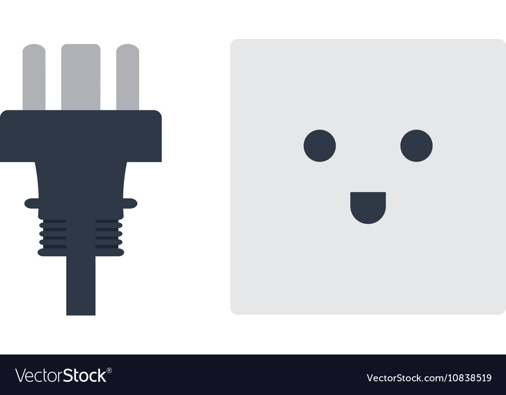Electrical outlet plug Royalty Free Vector Image