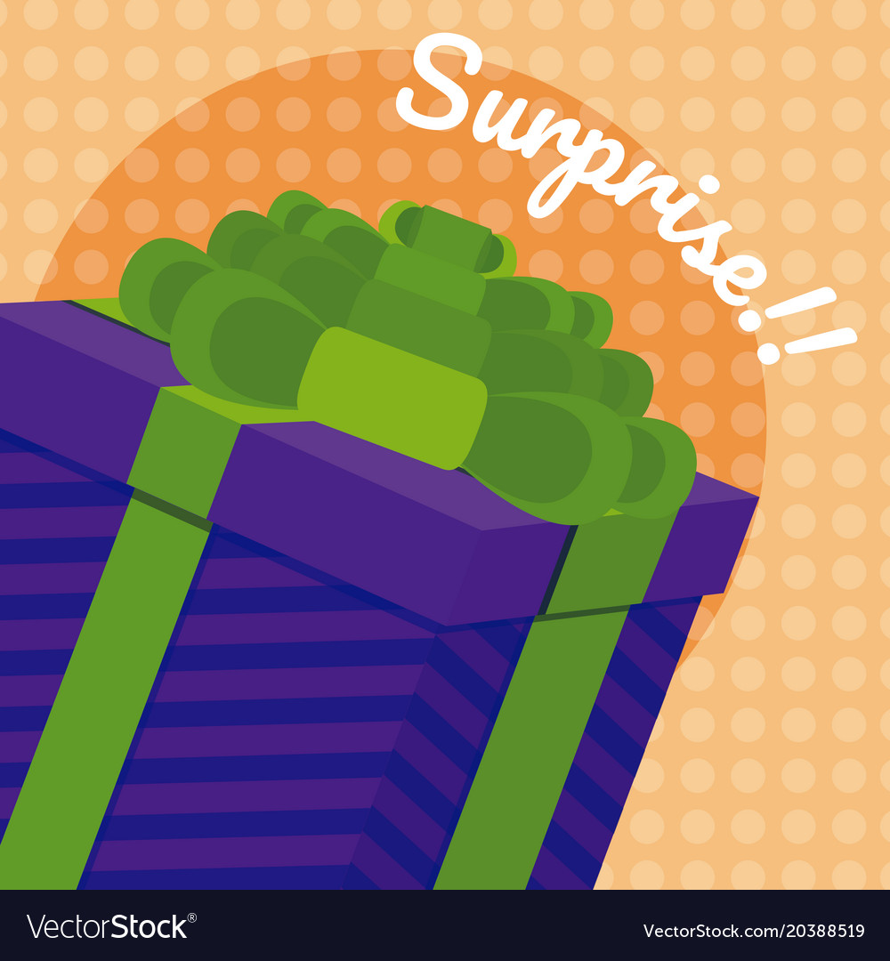 Gift box surprise card