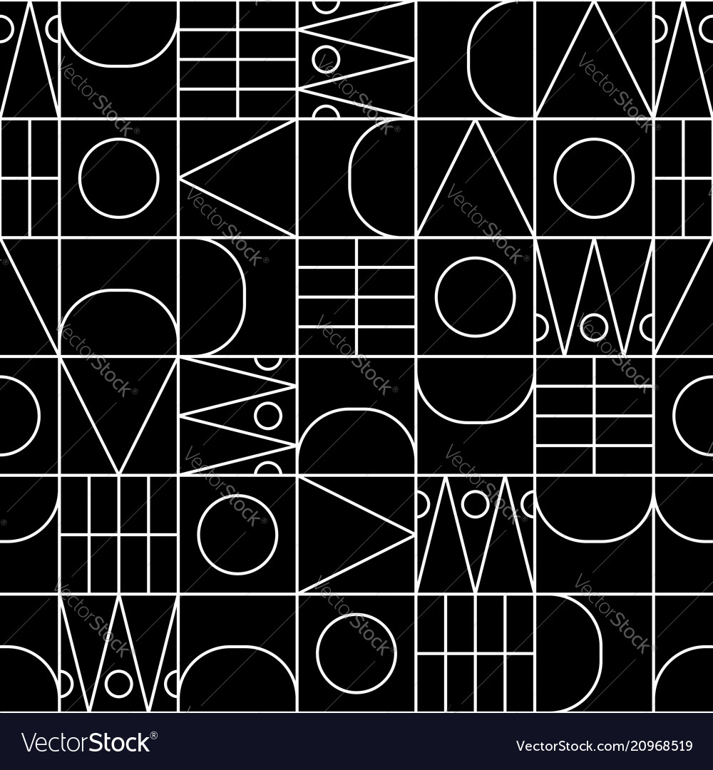 Line shapes seamless geometric pattern