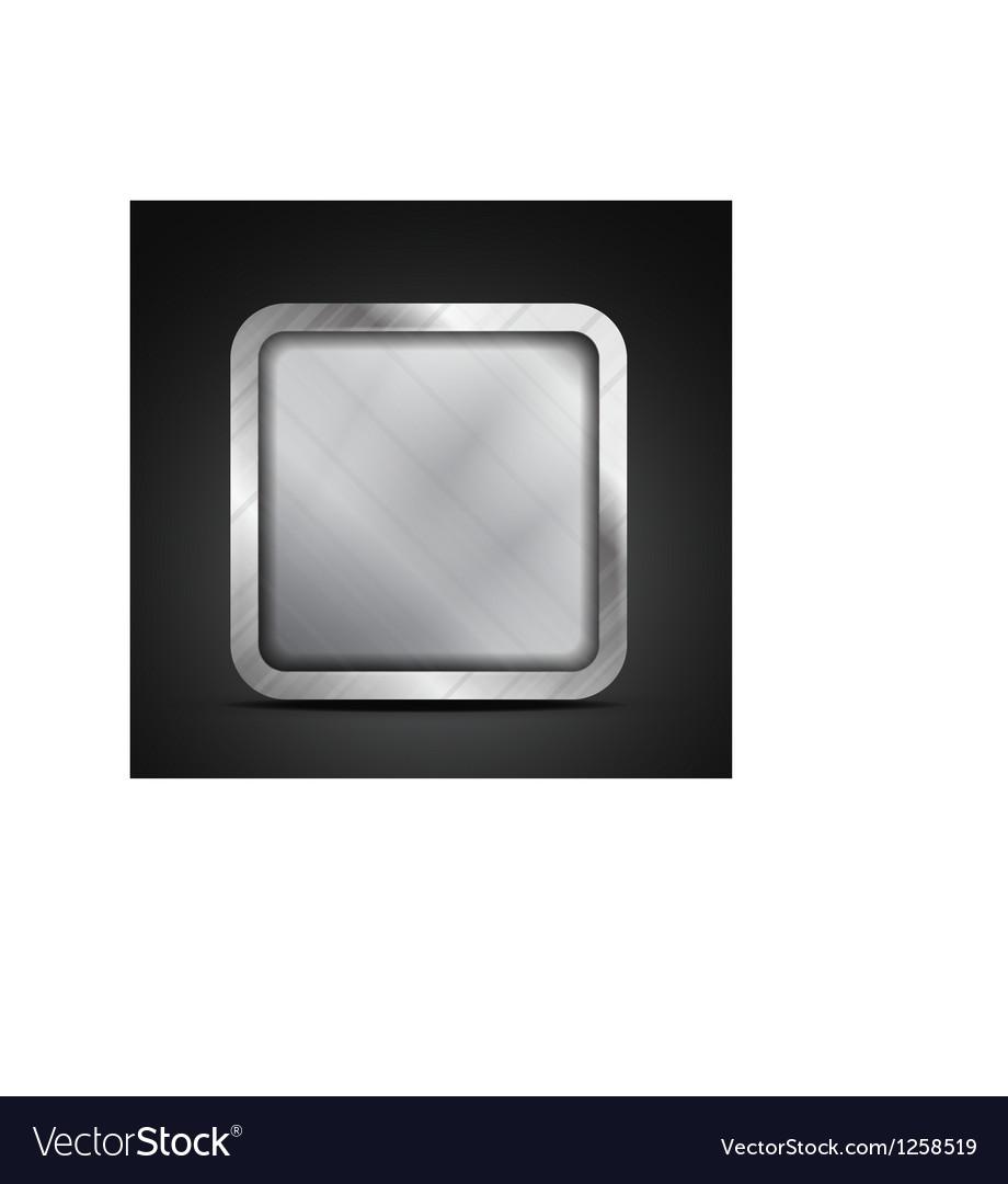 Mobile app icon - empty metallic texture box