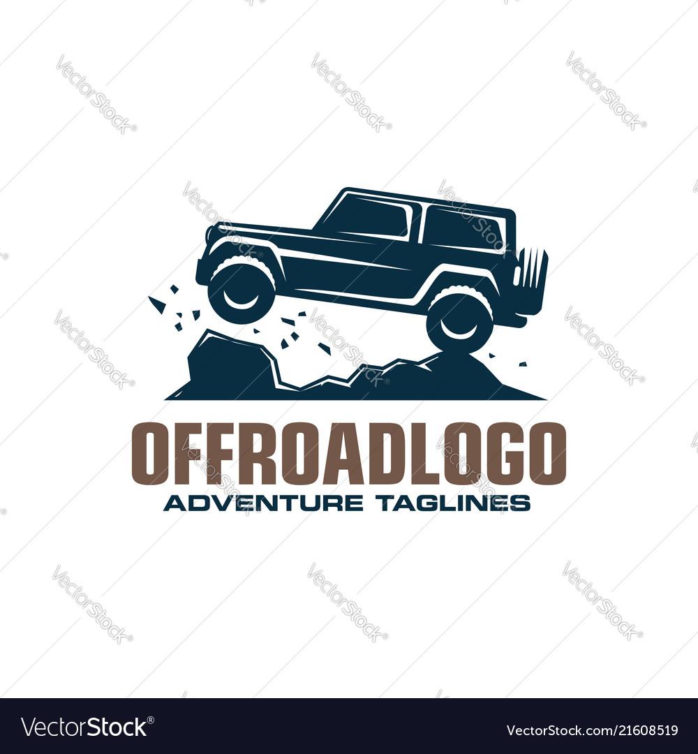 Off-road car logo safari suv expedition offroader