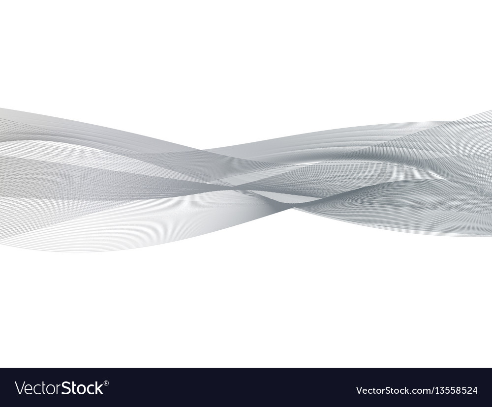 Abstract transparent grey wave background smoke